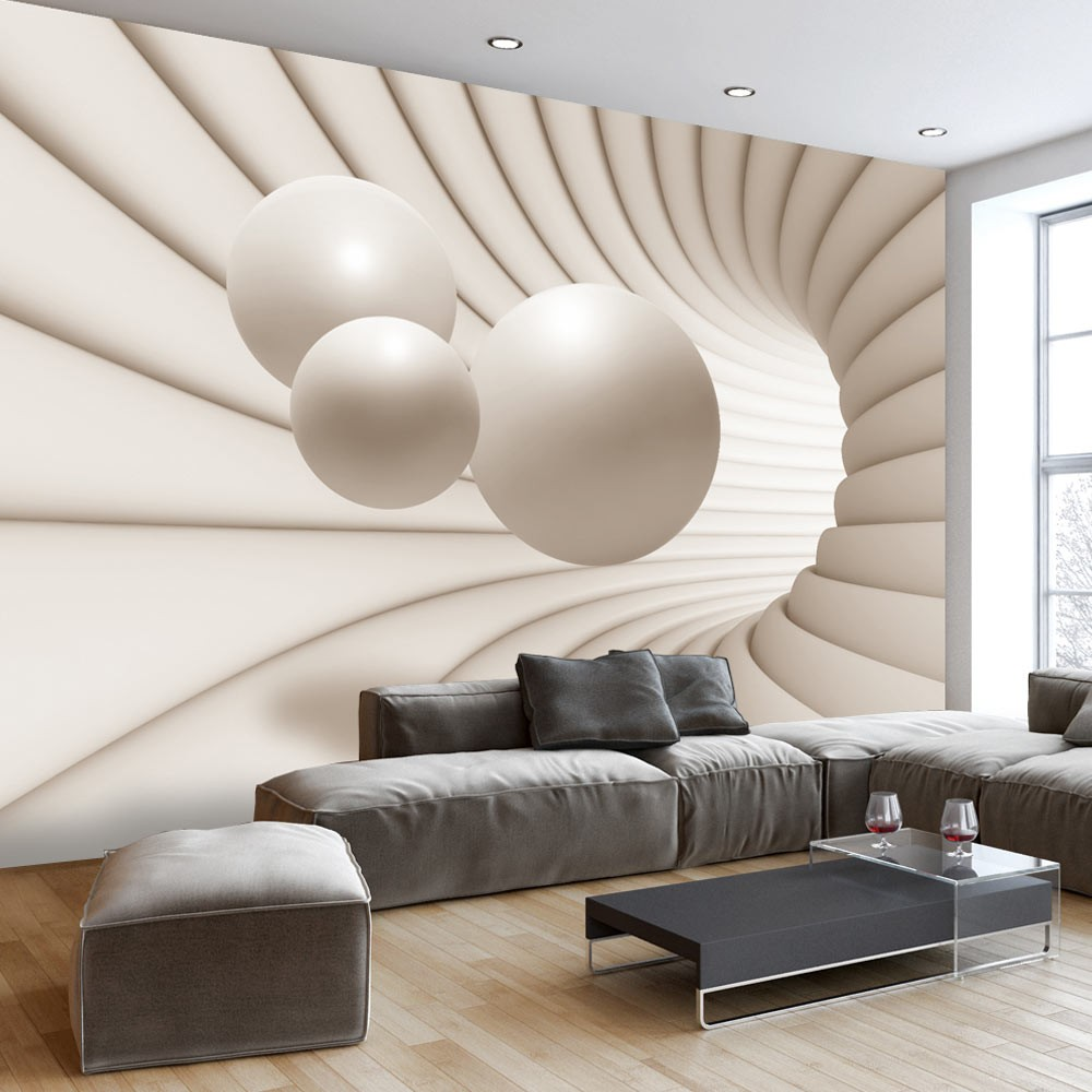 Wallpaper Balls In The Tunnel 3d Wallpaper Murals Uk