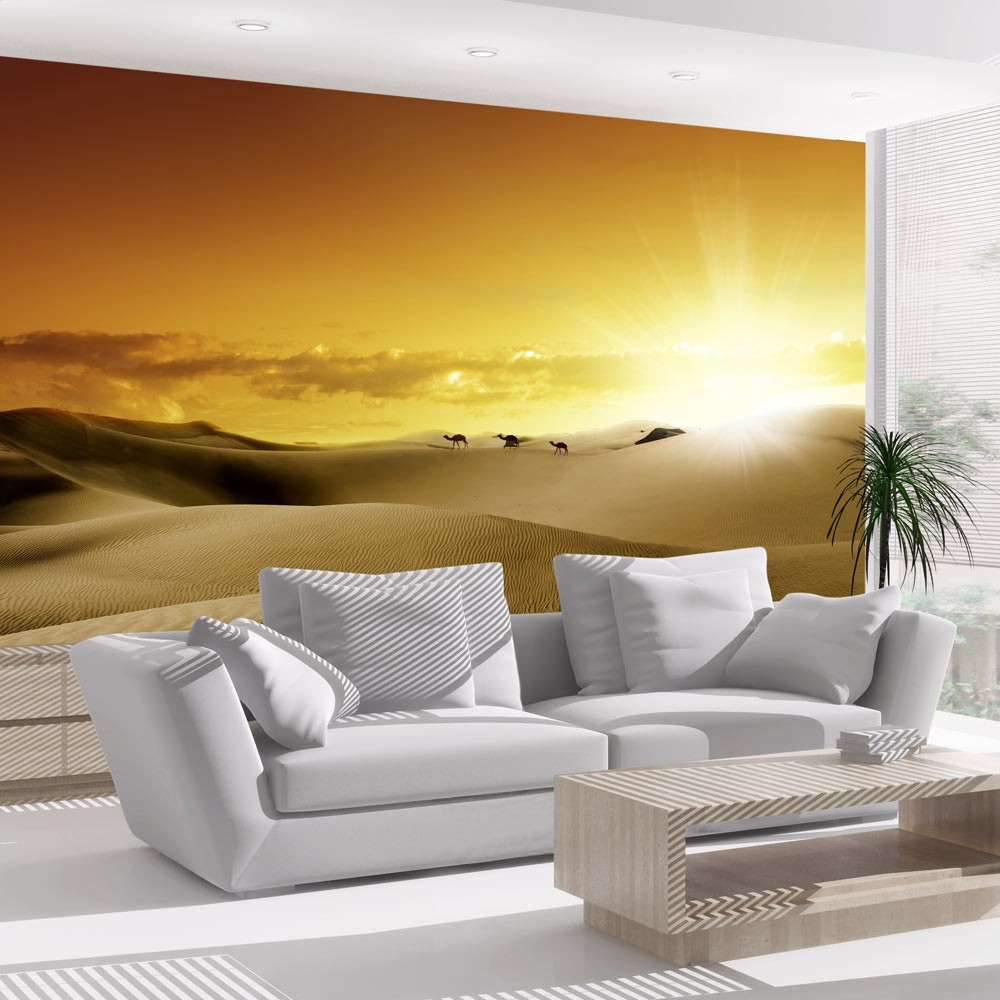 wallpaper march of camels 3d wallpaper murals uk. Black Bedroom Furniture Sets. Home Design Ideas