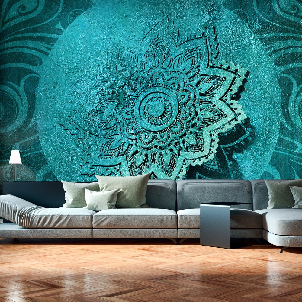 Wallpaper azure flower 3d wallpaper murals uk - Flower wallpaper mural ...