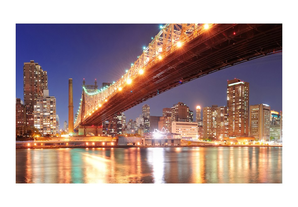 Wallpaper fiery brooklyn bridge 3d wallpaper murals uk for Brooklyn bridge wallpaper mural