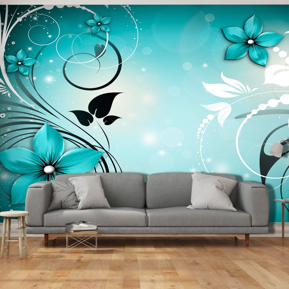 Xxl wallpaper sapphire winter 3d wallpaper murals uk for Winter wall murals