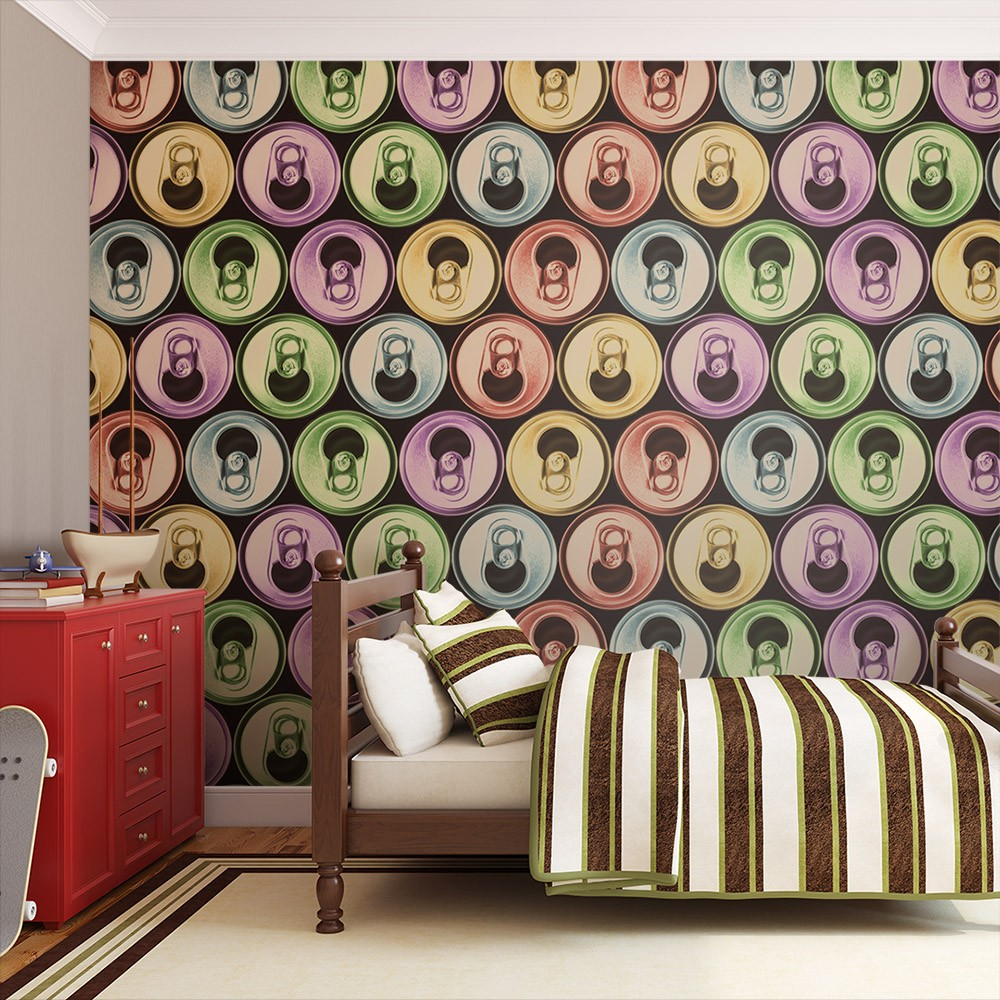 Xxl wallpaper cans pop art 3d wallpaper murals uk for Art mural wallpaper uk